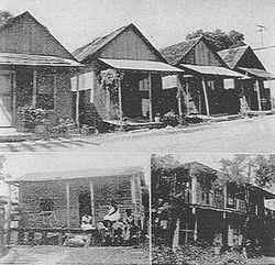 Historic photo of old houses in Daytona Beach